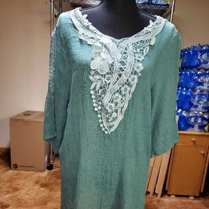 Mad About You Boho Teal Top